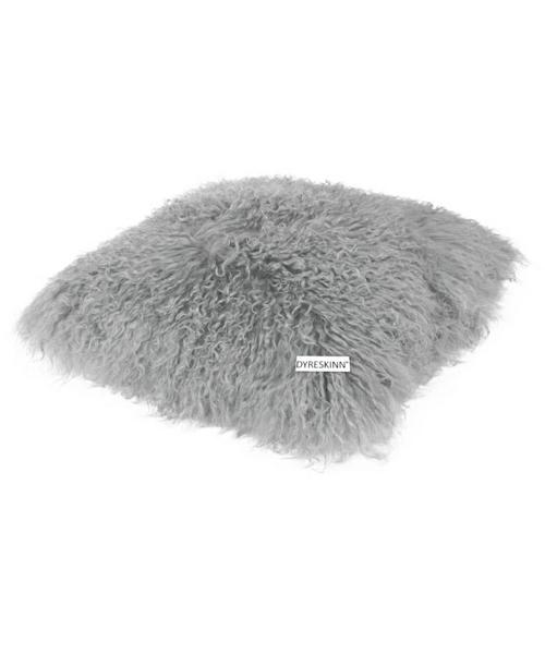 Dyreskinn シープスキンクッション・ライトグレー/シープスキン 羊毛 クッション ウール