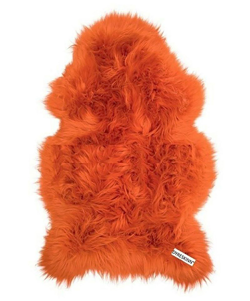 Dyreskinn シープスキン・スウェディッシュ・オレンジ/シープスキン 羊毛 ラグ マット ウール