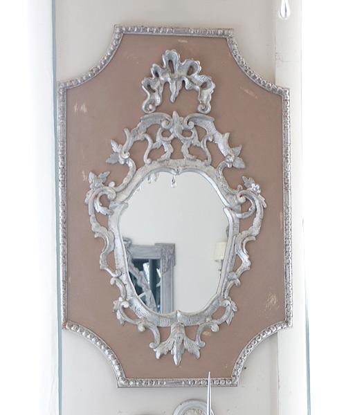 ELUSIO ミラー・ヴェニス・ローズ/彫刻 鏡 ウォールミラー 壁掛けミラー フランス フレンチクラシック ヨーロピアンクラシック ウォールデコレーション 装飾 インテリアオブジェ 壁飾り 応接室 美術 アート