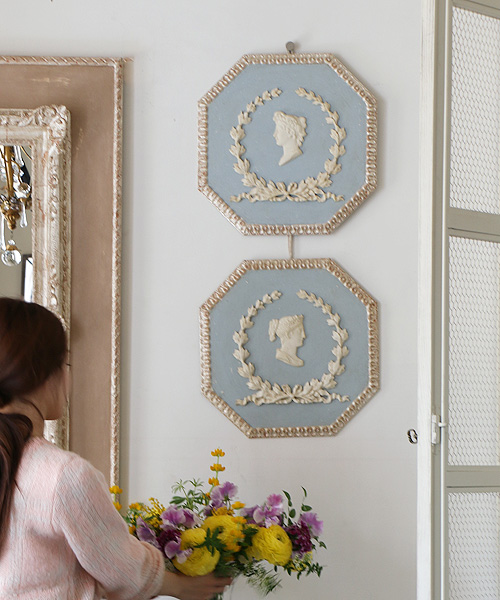 ELUSIO ウォールオーナメント・オクトゴナル・シルバー/ 壁飾り 壁掛け アンティーク インテリア小物 置物