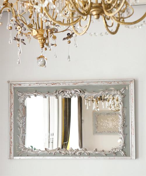 ELUSIO ミラー・スエドワ/彫刻 鏡 ウォールミラー 壁掛けミラー フランス フレンチクラシック ヨーロピアンクラシック ウォールデコレーション 装飾 インテリアオブジェ 壁飾り 応接室 美術 アート