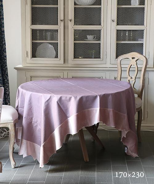LA GALLINA MATTA オイルクロステーブルクロス・モーヴ170x230/テーブルクロス 撥水 クロス かわいい 北欧 プレイスマット イタリア キッチン雑貨 フランス テーブルウェア マット 洗える オイルクロス