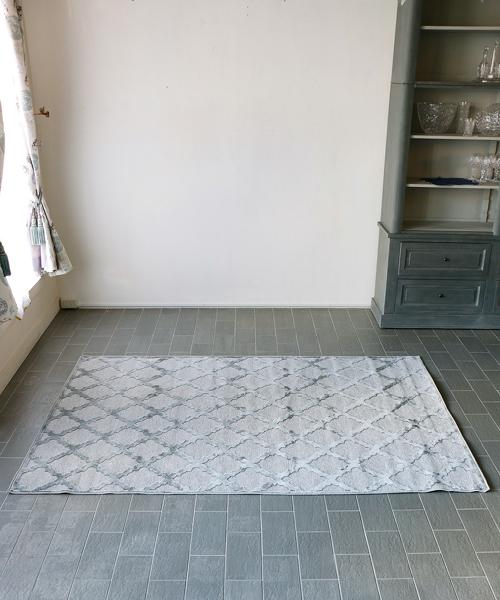 M.A.Salgueiro ラグ・プロヴァンス・グレー・160x230/ ラグ カーペット 絨毯 マット 洗える ラグマット じゅうたん アンティーク 北欧 フレンチ