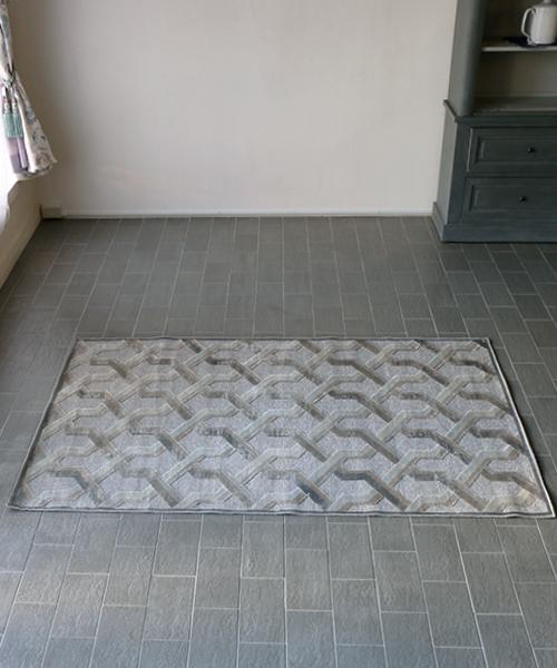 M.A.Salgueiro ラグ・プロヴァンス・グレー/ベージュ・140x200/ ラグ カーペット 絨毯 マット 洗える ラグマット じゅうたん アンティーク 北欧 フレンチ