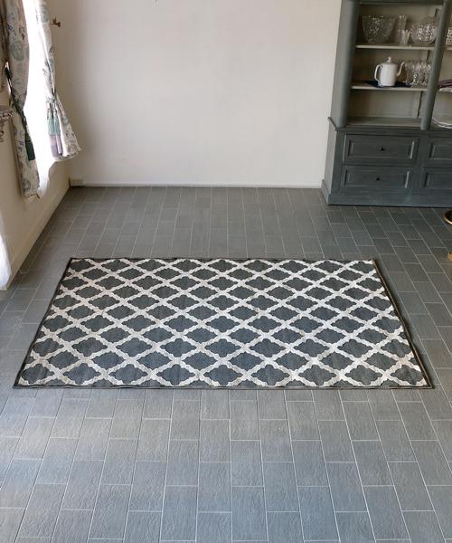 M.A.Salgueiro ラグ・プロヴァンス・チャコール/ベージュ・160x230/ ラグ カーペット 絨毯 マット 洗える ラグマット じゅうたん アンティーク 北欧 フレンチ
