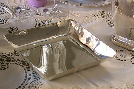 Mis en Demeure シルバートレイ・ルジロン・キャレ/シルバー食器 シルバー トレイ 小物入れ ハロウィン クリスマス 飾り プレゼント ギフト お祝い 結婚祝い 出産祝い