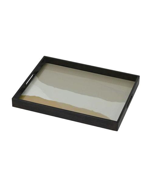 NOTRE MONDE レクタングルトレイ・ワビサビ・46x36cm/NOTRE トレイ トレー お盆 ガラス フランス