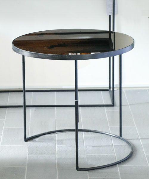 NOTRE MONDE ラウンドテーブル・ブロンズL/ リビングテーブル サイドテーブル 北欧 アンティーク 丸 ネストテーブル フレンチ モダン インテリア