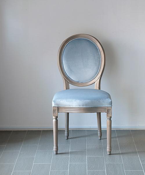 Rue de Passy ダイニングチェア・マリアンヌ・ベロアアクアグレー/アンティーク フランス インテリア フレンチ 北欧 家具 リビング ヨーロッパ 輸入 モダン おしゃれ いす 椅子 レトロ アンティーク調 チェア ロココ調