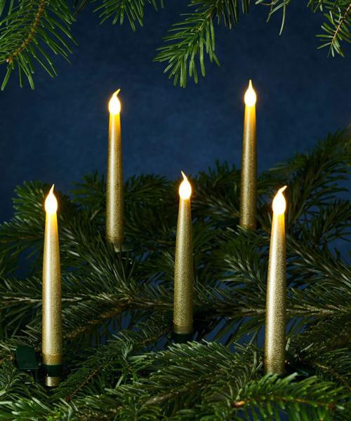 SIRIUS キャロリン・LEDキャンドルH15cm・ゴールド10p set /シリウス キャンドル ろうそく 北欧 オーナメント クリスマス Christmas Xmas LED ディスプレイ デコレーション リモコン イルミネーション クリスマスツリー