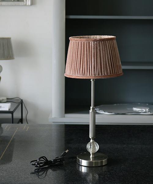 Blanc de Juillet テーブルスタンド・レザルプ/照明 電気スタンド 間接照明 アンティーク フレンチ テーブルランプ 北欧 シャビー モダン ガラス シルバー
