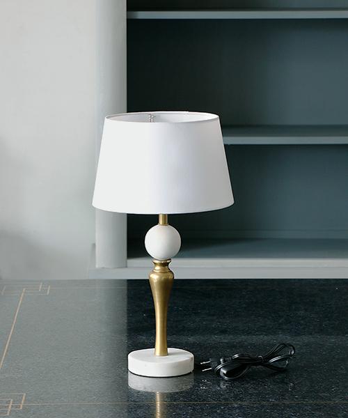 Blanc de Juillet テーブルスタンド・シャモニー/照明 電気スタンド 間接照明 アンティーク フレンチ テーブルランプ 北欧 シャビー モダン 大理石 ゴールド