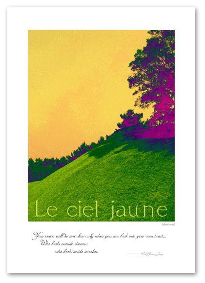 丘を覆う鮮やかな緑の絨毯 インテリアの為のアートポスター 風景 景色 国内在庫 フォト A3サイズ ポスター Jaune Interior アート 即納最大半額 Poster Art フォトポスター インテリア