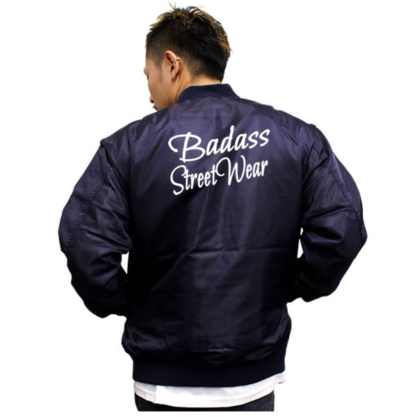 badass letter logo ma 1 mens jacket navy military outerwear mens fashion tops outer small