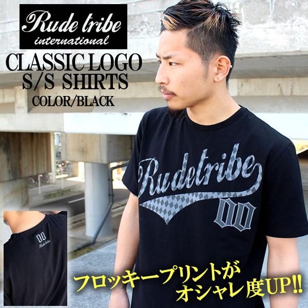 メンズストリートファッションならBLAST RUDE TRIBE CLASSIC LOGO S 新作 マート 黒LA.エルエー.ダミエ柄.チェック柄.半袖Tシャツ. ブラック ストリート.新作 20P30May15 TEE