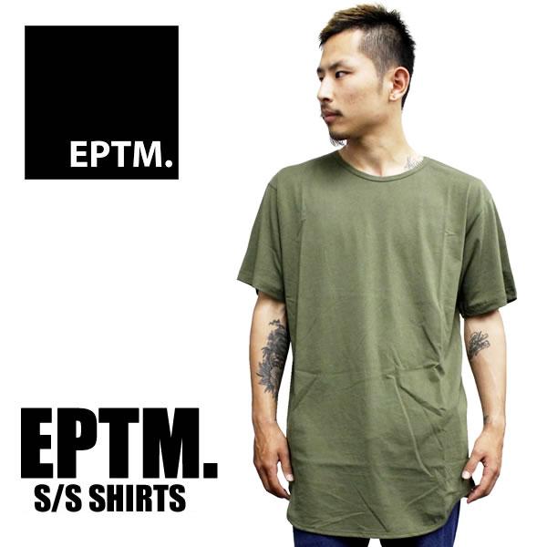 a6eb92ca907b EPTM epitome short sleeve T shirt long plain round-men's vintage olive  ladies fashion big ...