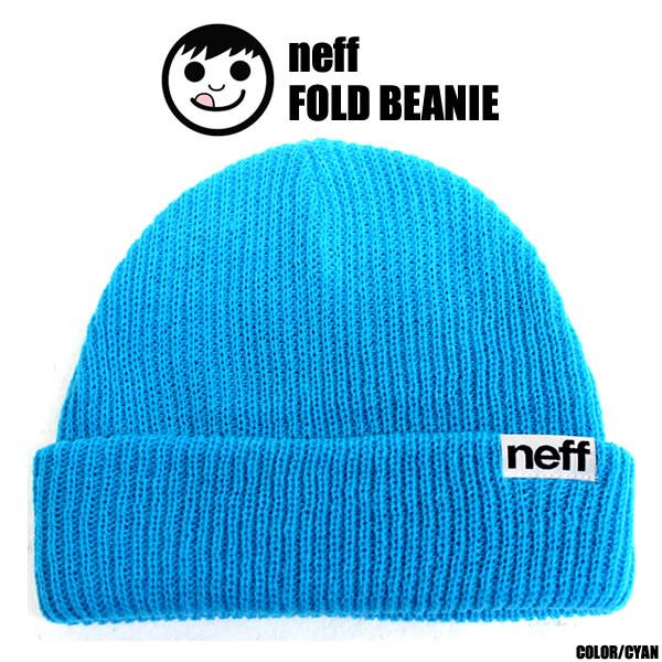 neff   Neff knit cap BIN FOLD   cyan INF00002 NEFF Neff neff ねふ beanie  glove parka sunglasses cap wear t shirt knit hat sticker rucksack Sioux no  board ... a194c9165be