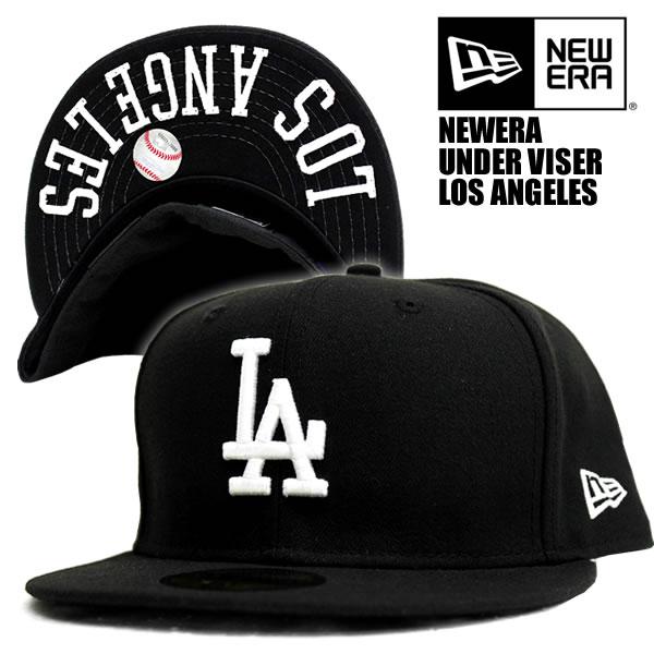 8c532d2ebb7ebb NEWERA / embroidery under visor black Los Angeles Dodgers new era 59FIFTY x  white 59 FIFTY ...