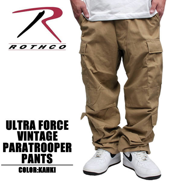 ROTHCO   Rothko Ultraforce Vintage Paratrooper Pants and khaki cargo pants  ROTHCO. 8f75f6f9005