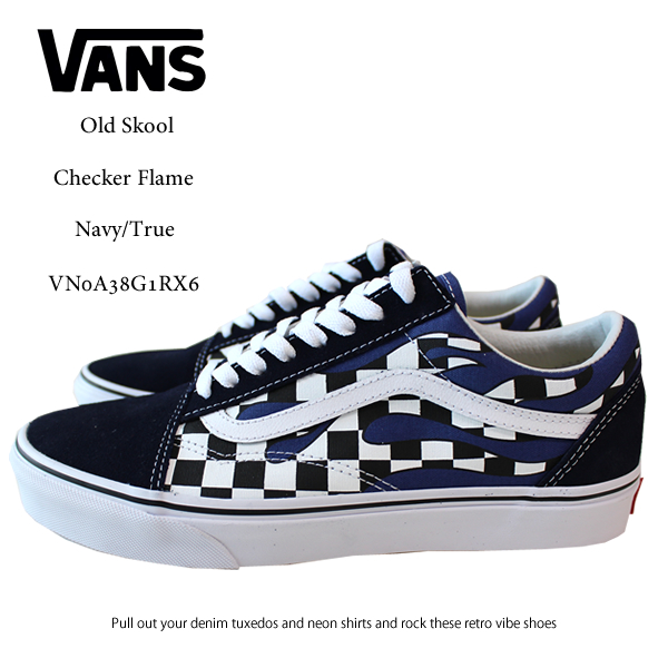 4a4507ecf092f3 blast  US-limited VANS vans sneakers old school checker frame OLD ...