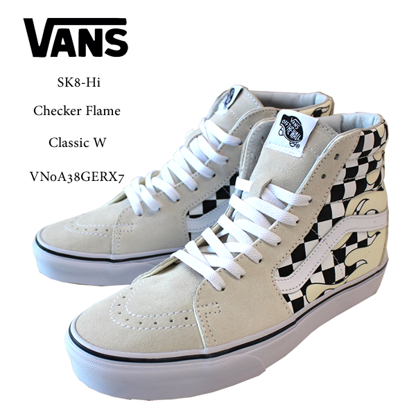 e09d3056eac2 US-limited VANS vans sneakers SK8-Hi checker frame OLD SKOOL Checker Flame  Classic VN0A38GERX7 men skater street casual shoes シューズスケシュー