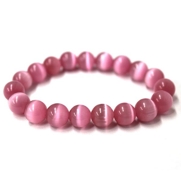 Stone Bracelet Cat S Eye Pink