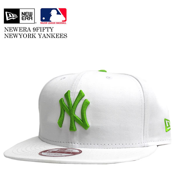688a86267c4 Introduce   product description. NEWERA   new era 9 fifty New York Yankees  SNAPBACK CAP white   green