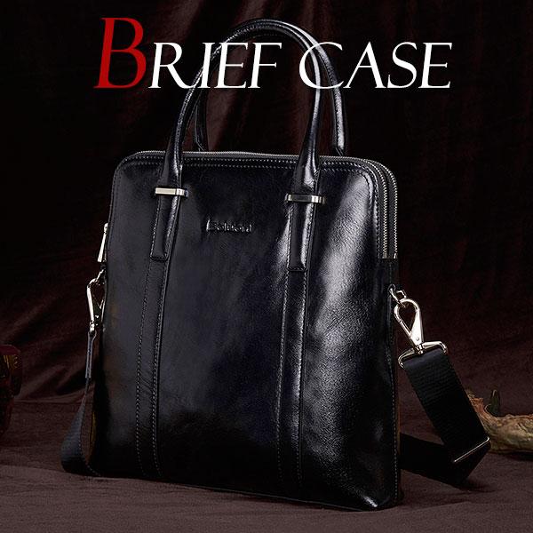 【11日1:59までスーパーSALE半額アイテム】MY BAG ビジネスバッグ ブリーフケース 縦型 最高品質A級牛本革 レザー メンズ 2way ショルダー付き トートバッグ 通学 通勤 出張 旅行A4書類鞄 2982-1