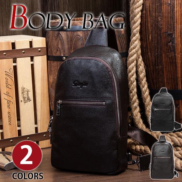 クーポン対象アイテム MY BAG 耐久性 ボディバッグ 縦型 上質牛革 本革レザー メンズ ウエストバッグ 斜め掛け ワンショルダーバッグ メッセンジャーバッグ 自転車鞄 2色選 60023