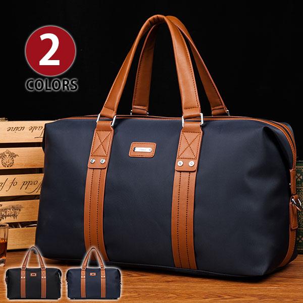 クーポン対象アイテム MY BAG ボストンバッグ 今季人気型 上質防水オックスフォード 本革レザー ベルト飾り メンズ レディース 男女兼用 トートバッグ 出張 旅行鞄 2色から選択 8072-1