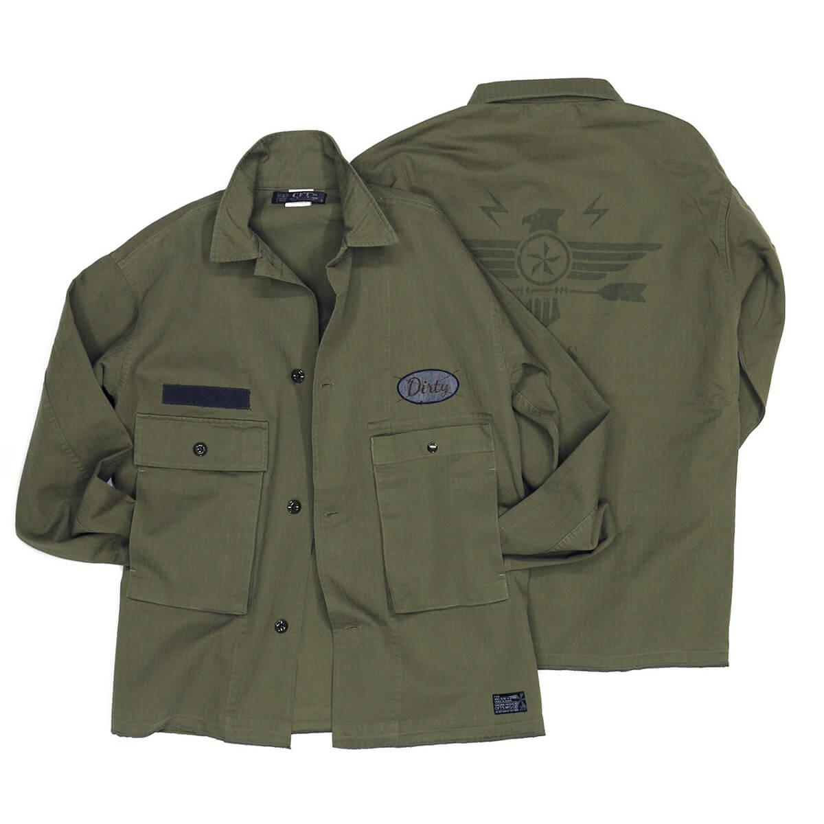 CFT'S シーエフティーズ アウター ジャケット ジャンパー 上着 メンズ 男性 ミリタリージャケット CUSTOM M-43 HBT JACKET CFT-F1019W OLIVE オリーブ 緑