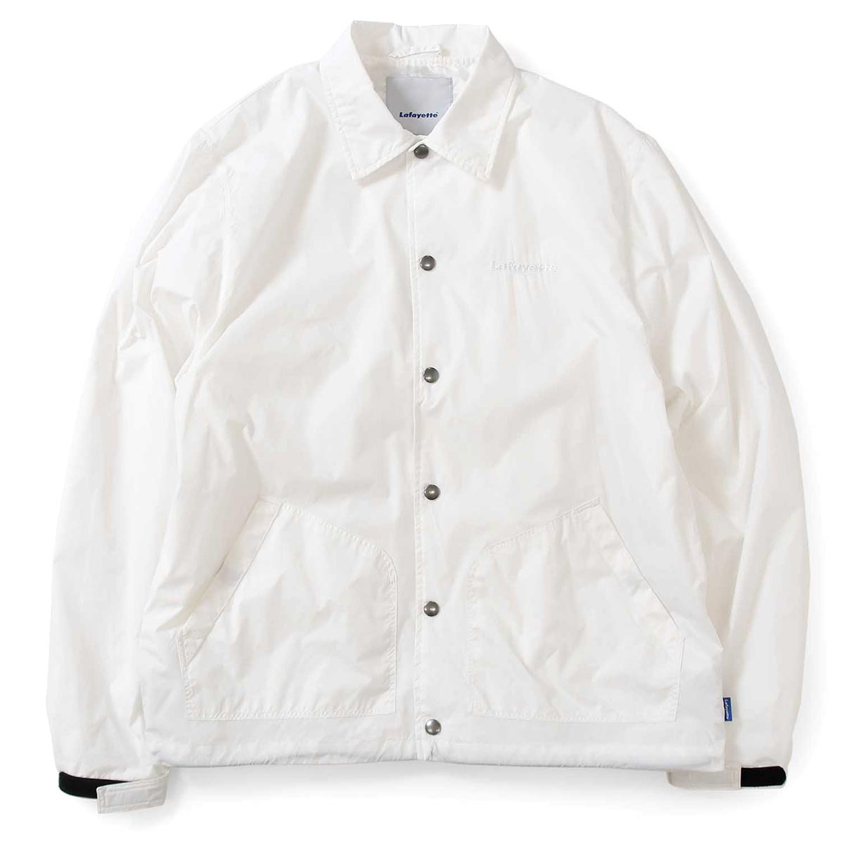 Lafayette ラファイエット コーチジャケット メンズ ストリート ブランド ジャンパー 上着 アウター ロゴ 刺繍 BASIC COACH JACKET LS201003 WHITE ホワイト