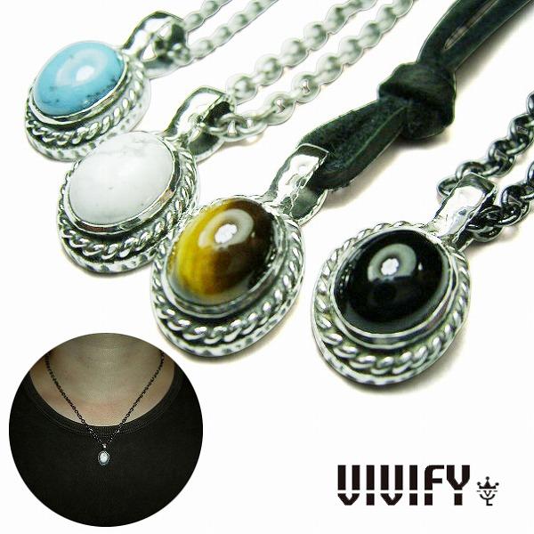 【VIVIFY 正規店】VIVIFY ビビファイ ネックレス ストーン 石8 x 10mm Stone Setting Necklace 受注生産