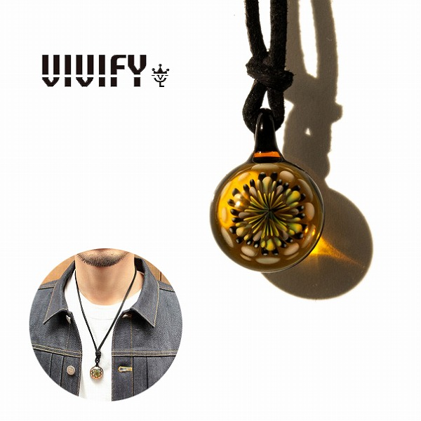 【VIVIFY 正規店】VIVIFY ビビファイ ネックレス グラス ガラスFireworks Leather Necklace(M) 受注生産