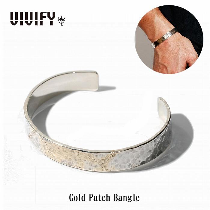 【VIVIFY 正規店】VIVIFY ビビファイ バングル シルバー Gold Patch Bangle