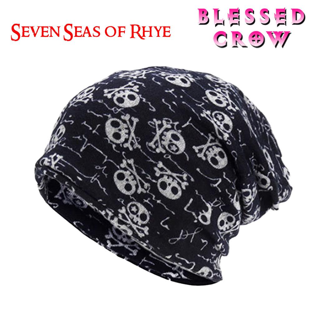 3WAYニットキャップ 有名な フェイスマスク スカーフ PiratesSkull ビーニー スカル ニット帽 帽子 ネックウォーマー メンズ 男性 ストアー 女性 レディース