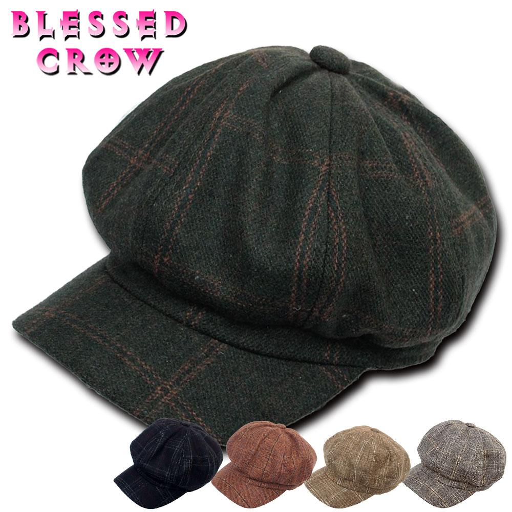 交換無料 ヨーロッパ トラッド 市場 デザイン キャスケット メンズ チェック レディース 帽子