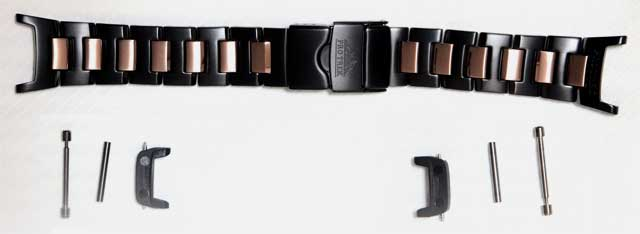 Metal belt black titanium (one set of 10330061-installation part) for exclusive use of proto Lec pure band PRX-2000YT-1JR