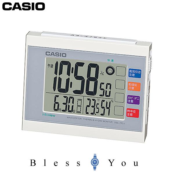 Radio time signal CASIO 4,0 with Casio clock desktop clock DQL-210J-7JF  temperature, the hygrometer