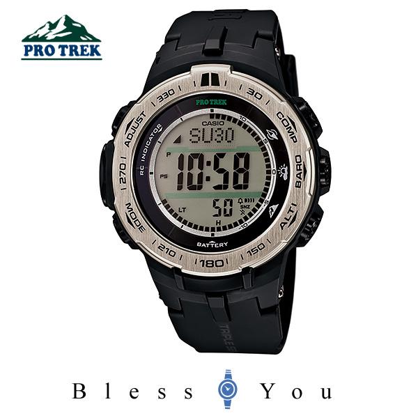 カシオ プロトレック 文字大きく見やすい PROTREK PRW-3100-1JF 40,0 タフソーラー電波時計 方位、高度・気圧、温度を計測可能なトリプルセンサー、シニアにも好評なアウトドア時計