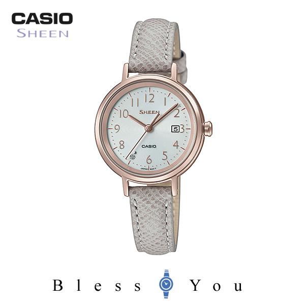 ポイント10倍 CASIO SHEEN カシオ ソーラー 腕時計 レディース シーン 2019年2月新作 革バンド SHS-D100CGL-7AJF 22,0