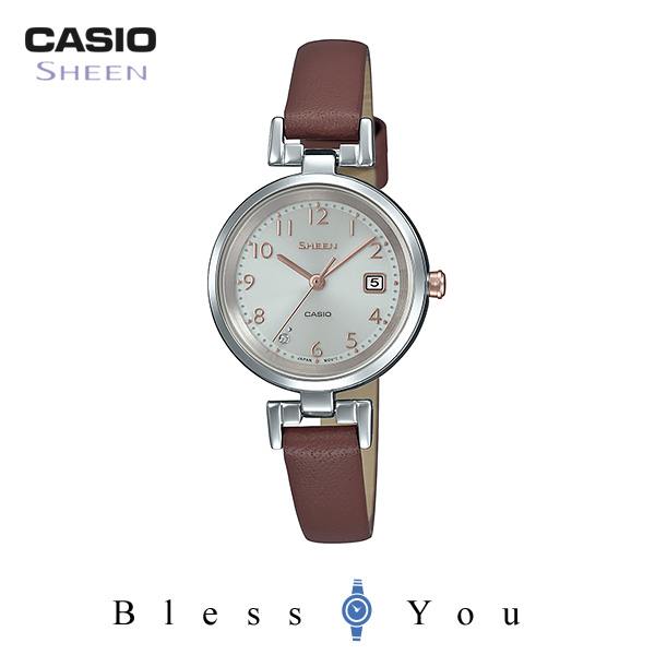 CASIO SHEEN カシオ ソーラー 腕時計 レディース シーン 2019年2月新作 革バンド SHS-D200L-4AJF 20,0