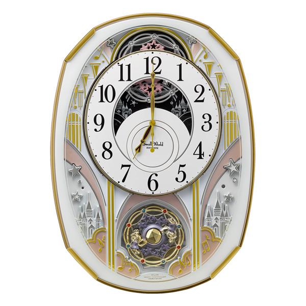 リズム 掛け時計 電波 スモールワールドノエルS 4MN551RH03 新品お取り寄せ 20,0