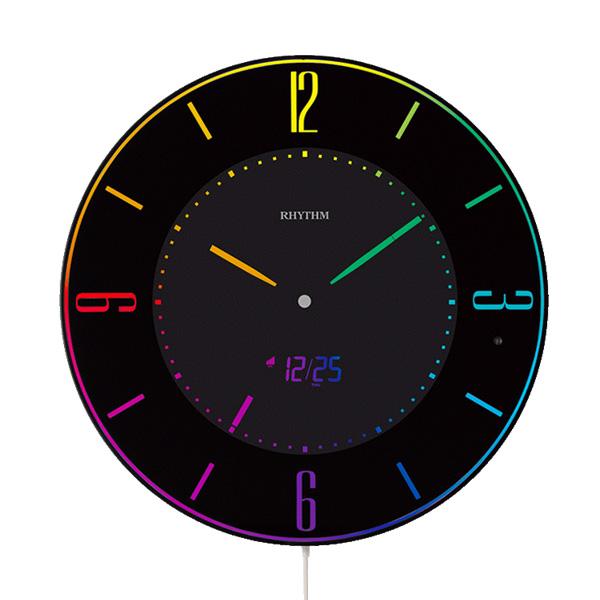 リズム 掛け時計 電波 イロリアエー 8RZ197SR02 新品お取り寄せ 15,0