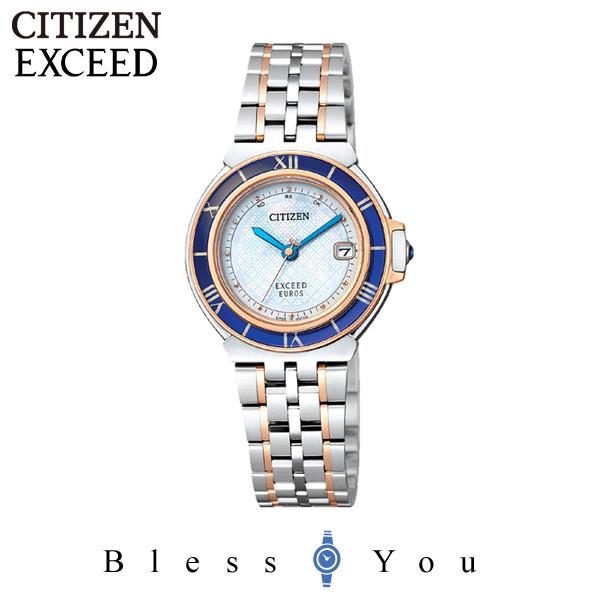 ポイント10倍 [シチズン]CITIZEN 腕時計 EXCEED EUROS エクシード ユーロス Eco-Drive エコ・ドライブ 電波時計 ペアモデル ES1035-52A レディース