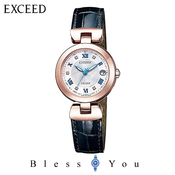 CITIZEN EXCEED シチズン ソーラー電波 腕時計 レディース エクシード ES9424-06A 150,0