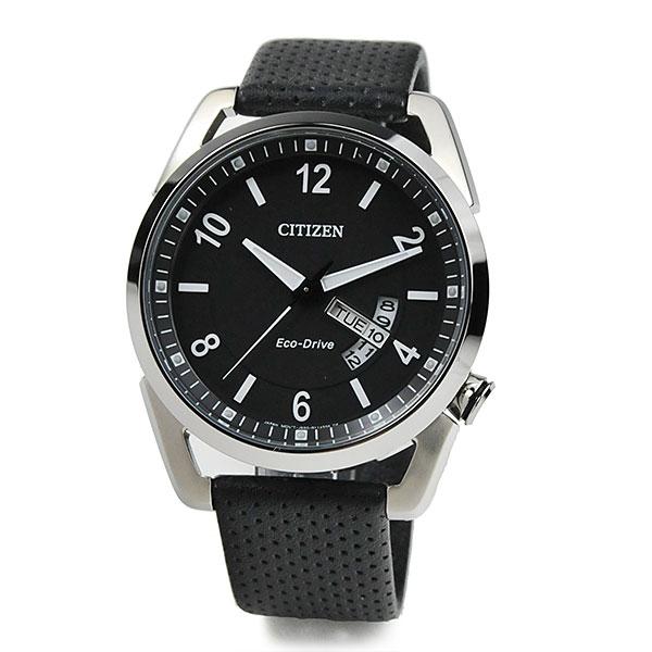 シチズン エコドライブ 海外モデル 腕時計 メンズ CITIZEN AW0010-01E 20,0 限定入荷 10気圧防水 レザーバンド ブラック