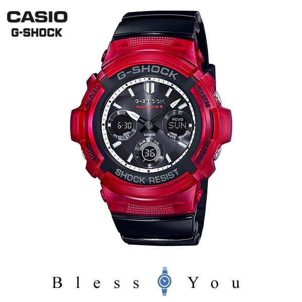 ポイント10倍 CASIO G-SHOCK カシオ ソーラー電波 腕時計 メンズ Gショック 2019年5月新作 AWG-M100SRB-4AJF 25,0
