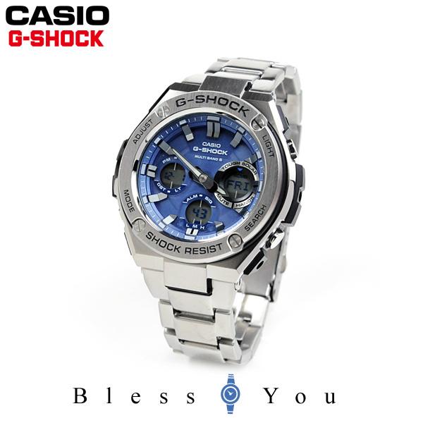 ポイント10倍 カシオ Gショック Gスチール CASIO G-SHOCK G-STEEL 電波 ソーラー 電波時計 腕時計 メンズ ブルー アナデジ タフソーラー GST-W110D-2AJF 45,0