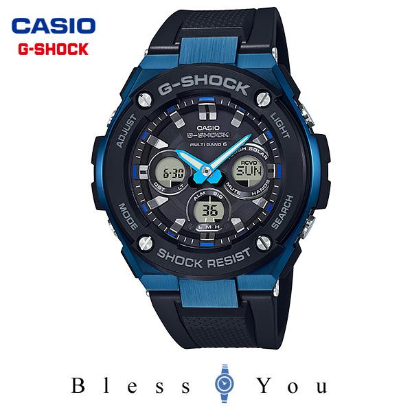 ポイント10倍 gショック 電波 ソーラー タフソーラー ベルト g-shock g-ショック 電波時計 カシオ 腕時計  GST-W300G-1A2JF Gスチール 新品お取寄せ 40,0